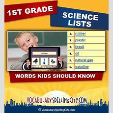 1st Grade Science Vocabulary  First Grade Science Words Vocabularyspellingcity
