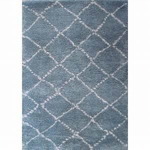 tapis chambre de bebe poils longs nomad bleu With tapis shaggy bleu