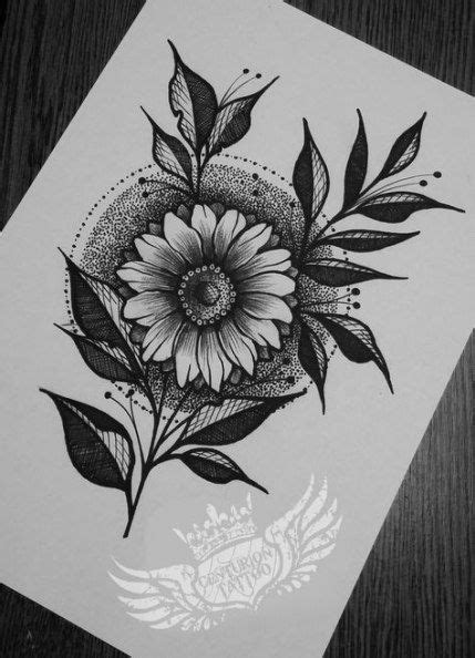Trendy Flowers Drawing Design Tattoo Style 21 Ideas #