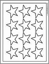 Coloring Star Pages Stars Printable Sheet Template Point Twelve Pdf Shooting Fancy Colorwithfuzzy sketch template