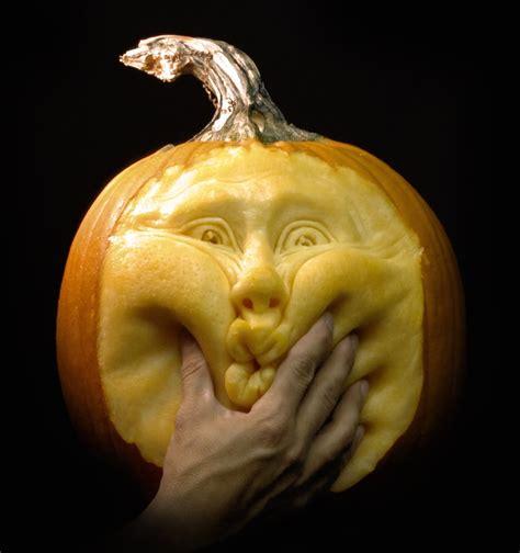pumkin faces most expressive pumpkin face sculptures ever spicytec