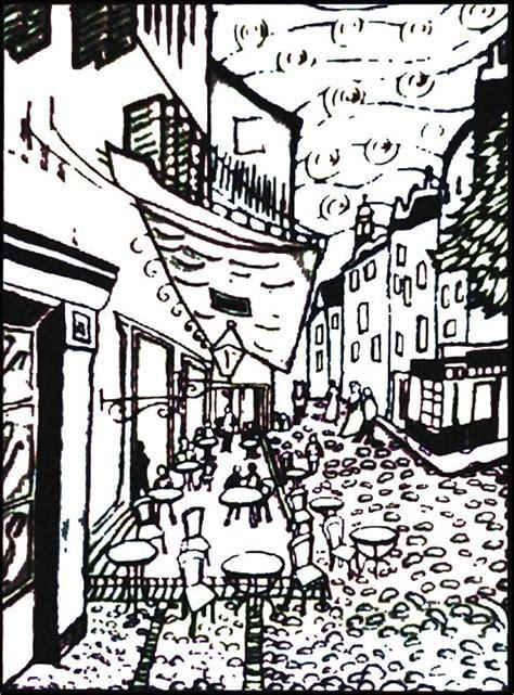 disegno da colorare pennarelli inclusi van gogh caffe