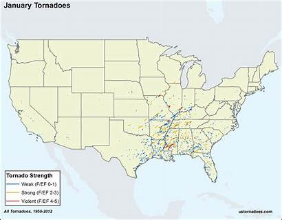 Tornadoes Tornado States United Alley Month Across