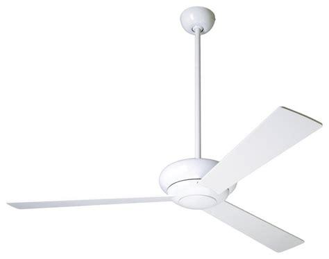 Modern White Ceiling Fans by 52 Quot Modern Fan Company Altus Glossy White Ceiling Fan
