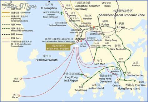 Ferry Hong Kong To Shenzhen by Shenzhen Shekou Port Map Toursmaps