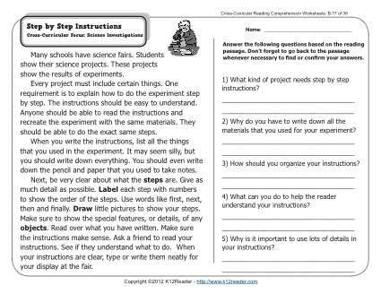 step by step instructions k12 2nd grade reading comprehension reading comprehension