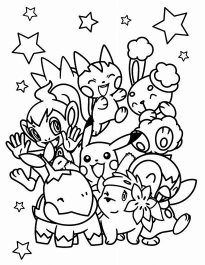 Pokemon Coloring Pages Clouds