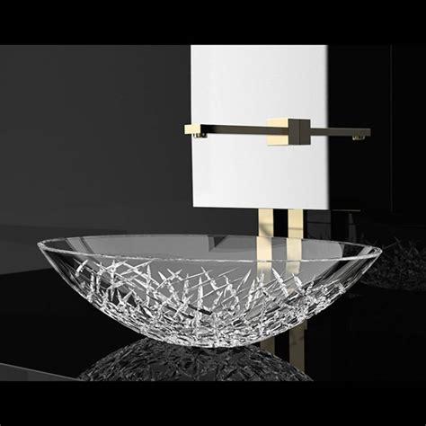 designer bathroom sinks de medici oval transparent
