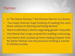 no name woman analysis essay