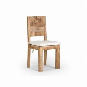 Chaise En Bois Massif : chaise chennai en bois de manguier massif achat vente chaise salle a manger pas cher couleur ~ Teatrodelosmanantiales.com Idées de Décoration