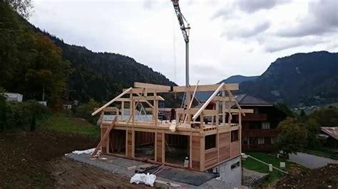 montage d une maison bois poteau poutre vision bois