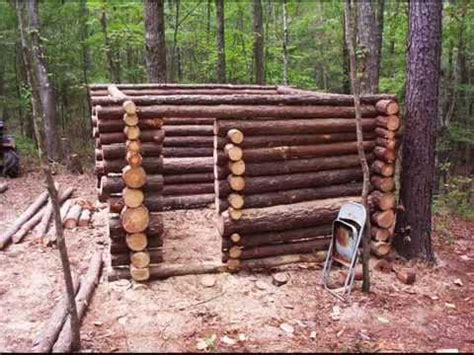 small log cabin construction youtube