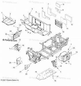 Polaris Side By Side 2008 Oem Parts Diagram For Body