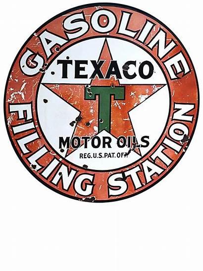 Texaco Gas Oil Gasoline Metal Motor Signs