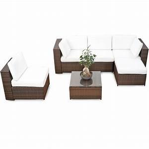 Polyrattan Gartenmoebel Set Guenstig : modulares 18tlg gartenm bel xxl lounge set polyrattan braun lounge m bel sets ~ Bigdaddyawards.com Haus und Dekorationen