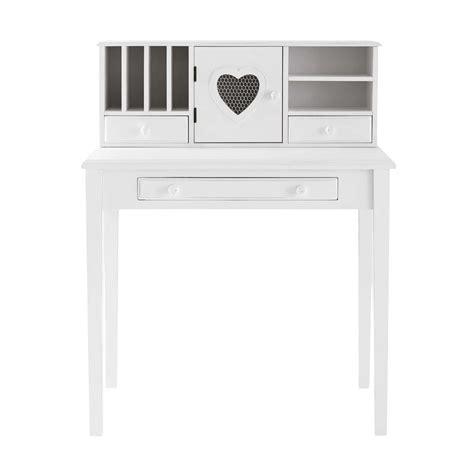 bureau du monde bureau en bois blanc bureau en bois blanc l 110 cm blush
