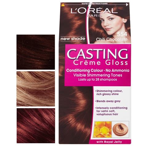loreal white chocolate hair color brown hairs