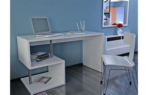 bureau design laqué blanc maxime bureau miliboo ventes