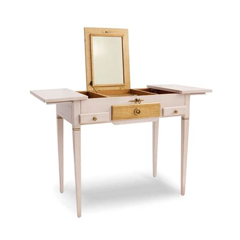 Dressing table, in classical style, in lacquered wood, for