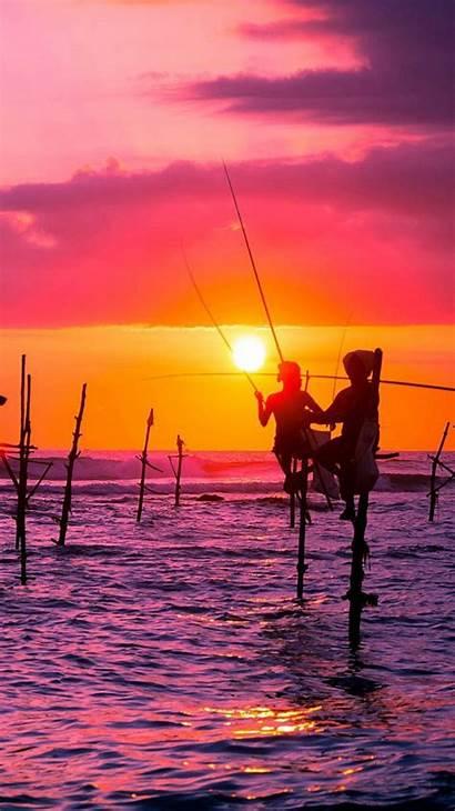 Sri Lanka Wallpapers Iphone Fishing Nature Sunset