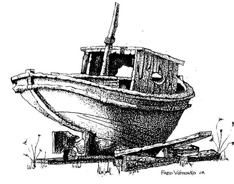 Boat Drawing Ink by Http Www Voitenko Org Boat 1 Jpg Pen And Ink