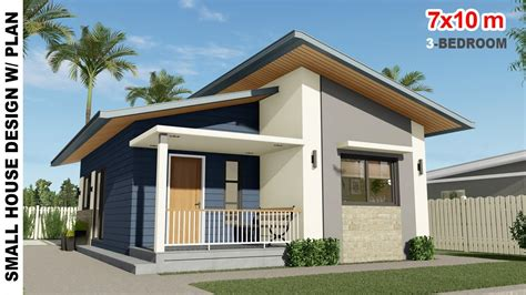 3 BEDROOM SMALL HOUSE DESIGN (7X10m) House Design Under