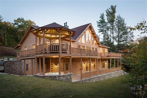 country house plans with wrap around porch rediker log home kit large log cabin homes