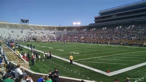 notre dame stadium section  rateyourseatscom