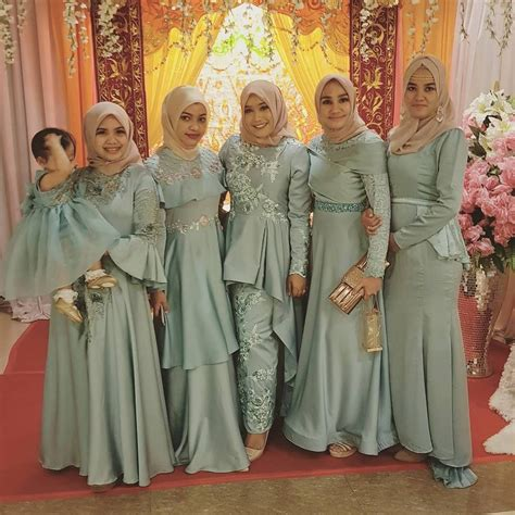 pin  hayati hassan  kebaya baju kurung hijab fashion dress brokat muslim hijab style dress