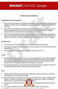 terms and conditions for sale of goods to business With sales terms and conditions template free
