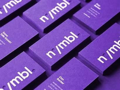 Business Cards Identity Brand Purple Branding Card