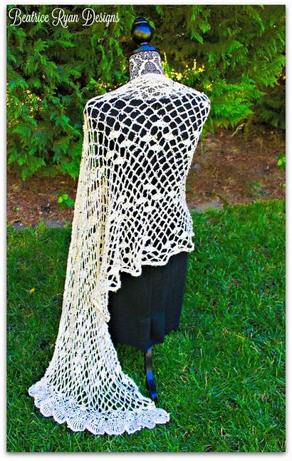 Shawl Crochet Pattern Soiree Chiffon Patterns Ravelry