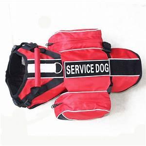 Service Training Dog Harness Vest With Removable Saddle