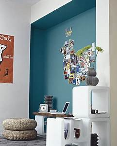 Déco Chambre Bleu Canard : oser le bleu canard sur ses murs au 303 home deco ~ Melissatoandfro.com Idées de Décoration