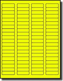 fluorescent neon yellow labels