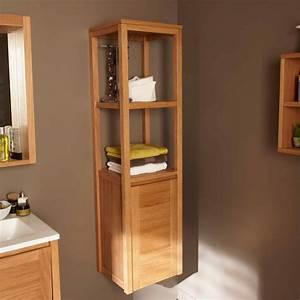 Colonne Rangement Salle De Bain : bien choisir son meuble de salle de bains leroy merlin ~ Premium-room.com Idées de Décoration