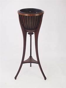 Antique, Edwardian, Mahogany, Jardiniere, Plant, Stand