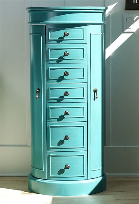 sabrina jewelry armoire turquoise hives  honey