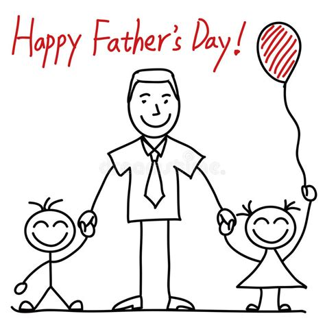 kids drawing fathers day stock illustrations  kids