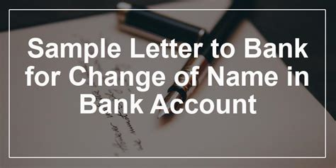 letter  bank  change    bank account