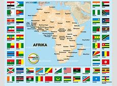 Map of Flags Africa Theme Maps in 54 Countries Welt