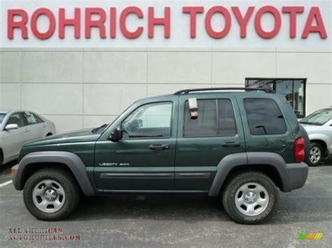 2003 green jeep liberty 2003 jeep liberty sport 4x4 in shale green metallic
