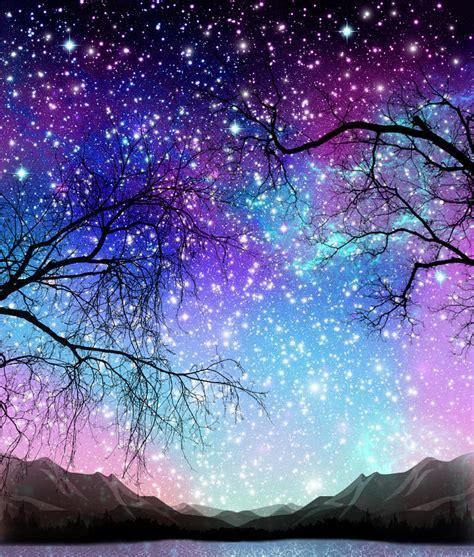 Galaxy Tree Digital Art By Veronika Limonov