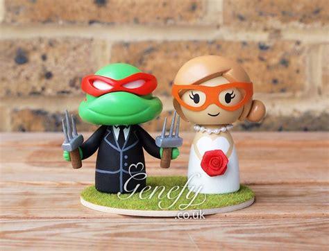cute tmnt ninja turtle wedding cake topper