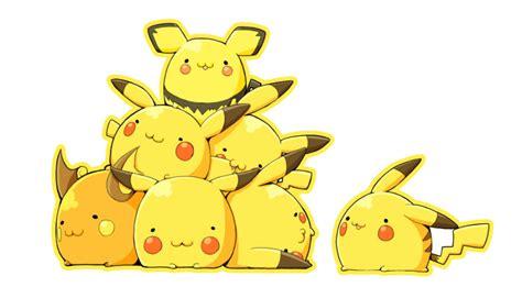 chibi gaming pikachu pokemon cute eevee eevee evolutions jolteon flareon vaporeon espeon umbreon