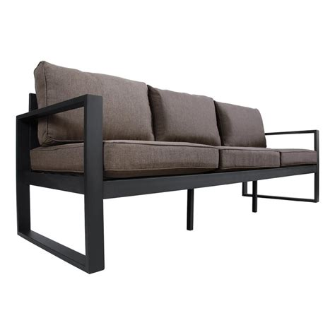 Metal Outdoor Loveseat by Real Baltic Sofa With Cushions Reviews Wayfair