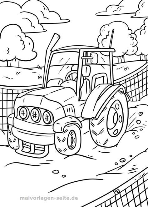 malvorlage traktor fahrzeuge bauernhof gratis