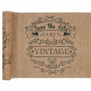 Chemin De Table Design : d coration mariage vintage chemin de table jute design vintage ~ Teatrodelosmanantiales.com Idées de Décoration