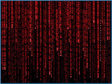matrix code screensaver red
