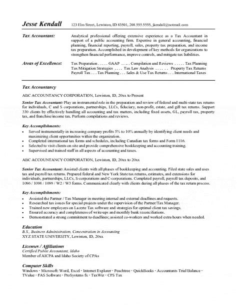 Tax Accountant Resume by Tax Accountant Resume